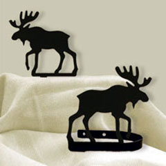 Wrought Iron Moose Tie Backs