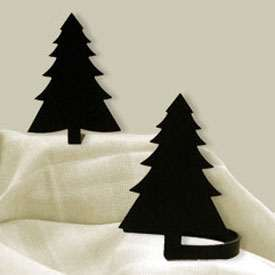 Wrought Iron Pine Tree Tie Backs