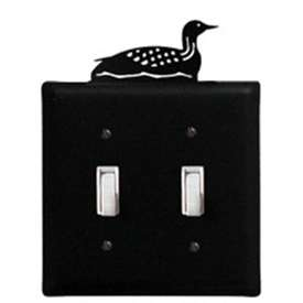 Wrought Iron Loon Switch Cover (Double)