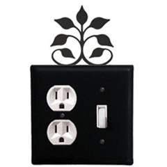 Wrought Iron Leaf Fan Outlet & Switch Cover