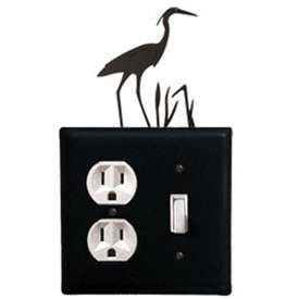 Wrought Iron Heron Outlet & Switch Cover