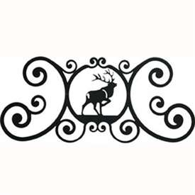 Wrought Iron Elk Over Door Plaque
