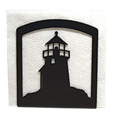 Wrought Iron Lighthouse Napkin Holder