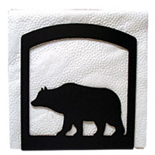 Wrought Iron Bear Napkin Holder