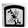 Wrought Iron Dragonfly Napkin Holder