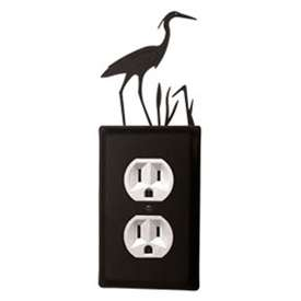Wrought Iron Heron Outlet Cover