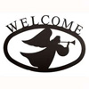 Wrought Iron Angel Welcome Sign