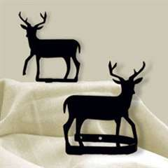 Wrought Iron Deer Tie Backs