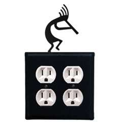 Wrought Iron Kokopelli Outlet Cover - Double