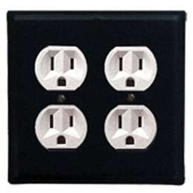 Wrought Iron Plain Outlet Cover - Double