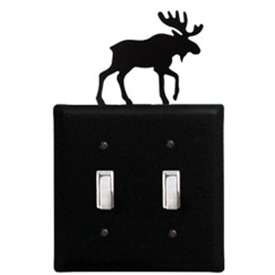 Wrought Iron Moose Switch Cover - Double