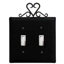 Wrought Iron Heart Switch Cover - Double