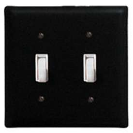 Wrought Iron Plain Switch Cover - Double