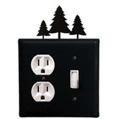 Wrought Iron Pine Trees Outlet & Switch Cover