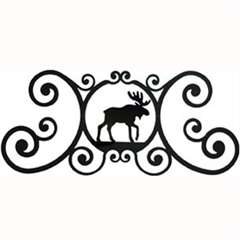Wrought Iron Moose Over Door Plaque
