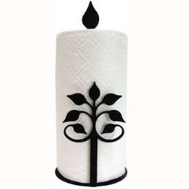 Wrought Iron Leaf Fan Paper Towel Stand