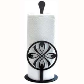 Wrought Iron Bow Paper Towel Stand