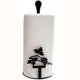 Wrought Iron Grapevine Paper Towel Stand