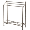 Pictured here is Free Standing Rustic Pine Blanket Stand by Stone County Iron Works