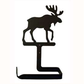 Wrought Iron Moose Toilet Paper Holder (Traditional Style)