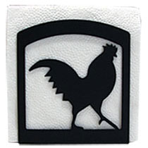 Wrought Iron Rooster Napkin Holder