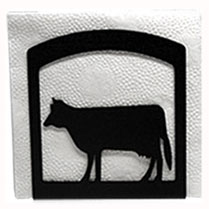 Wrought Iron Cow Napkin Holder