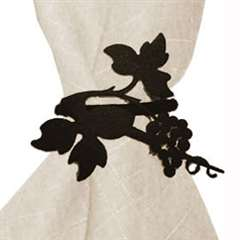 Wrought Iron Grapevine Napkin Ring