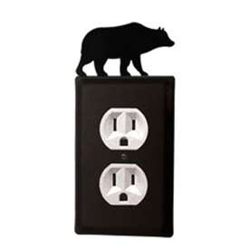 Wrought Iron Bear Outlet Cover