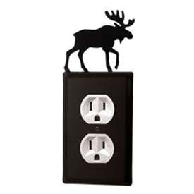 Wrought Iron Moose Outlet Cover