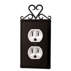 Wrought Iron Heart Outlet Cover