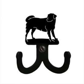 "Wrought Iron Dog Double Wall Hook (Hook Depth measures 1/2""D)"
