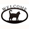Wrought Iron Cat Welcome Sign