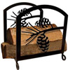 Wrought Iron Pine Cone Wood Rack
