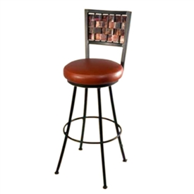 Wrought Iron Rush Round Counter Stool 25 In Seat Height