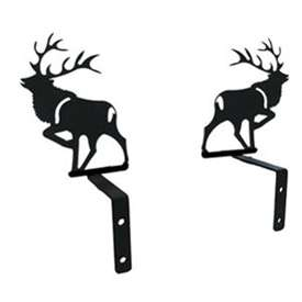 Wrought Iron Elk Curtain Swags