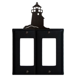 Wrought Iron Lighthouse Double GFI Cover