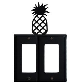 Wrought Iron Pineapple Double GFI Cover