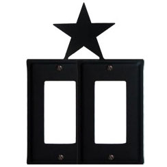 Wrought Iron Star Double GFI Cover