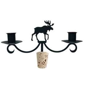 Wrought Iron Moose Wine Bottle Top