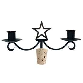 Wrought Iron Star Wine Bottle Top