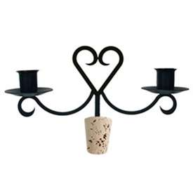 Wrought Iron Heart Wine Bottle Top