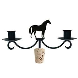 Wrought Iron Horse Wine Bottle Top