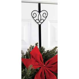 Wrought Iron Victorian Heart Wreath Hanger