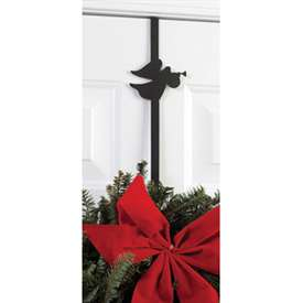Wrought Iron Angel Wreath Hanger