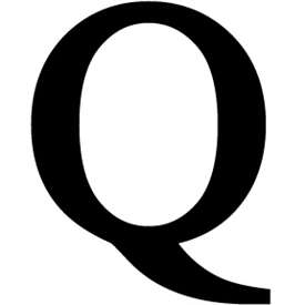 Wrought Iron Letter Q