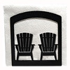 Wrought Iron Adirondack Chairs Napkin Holder