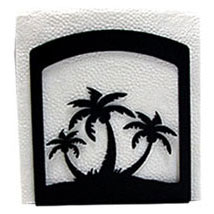 Wrought Iron Triple Palm Tree Napkin Holder