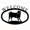 Wrought Iron Dog Welcome Sign