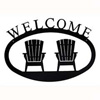 Wrought Iron Adirondack Chairs Welcome Sign