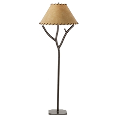 Rustic Woodland Floor Lamp